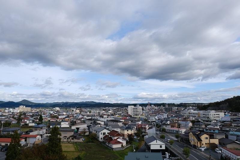 ベリーノホテル屋上から駅方向の写真