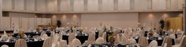 磐井の間宴会セッティングの写真